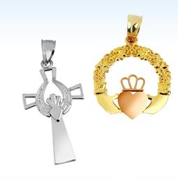 claddagh celtic pendants, claddagh pendants, celtic pendants