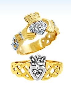 diamond claddagh rings