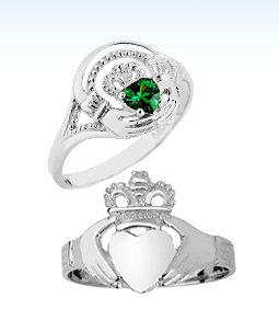 silver claddagh rings, 925 sterling silver claddagh rings