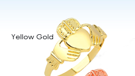 yellow gold claddagh rings, gold claddagh rings